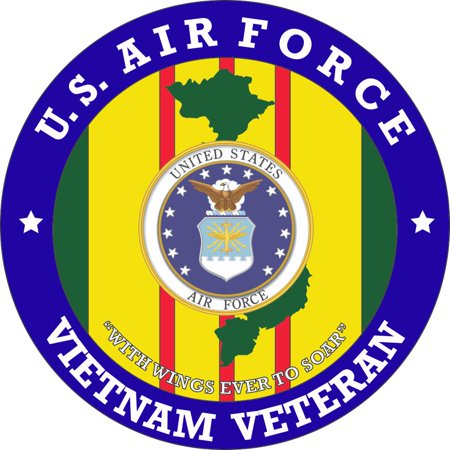 Air Force Pocket Patch (3.8 Inch U.S. Air Force Vietnam Veteran Patch)