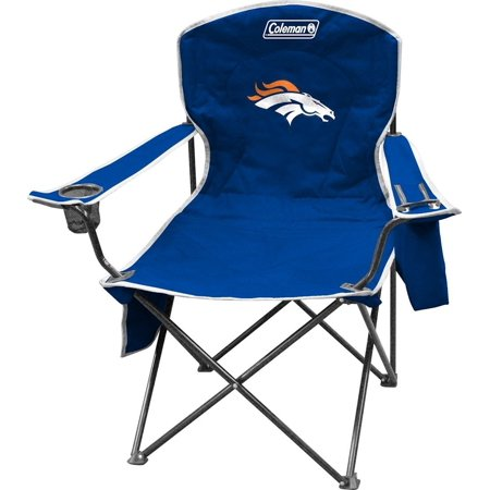 NFL Portable Folding Chair with Cooler and Carrying Case, Built-in 4- to 6-can soft cooler, program pouch, and cup holder By Coleman ()