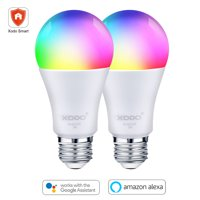 XODO 2-Pack LB3 Smart WiFi Light Bulb, LED Multi Color Changing, App Controlled, Adjustable Color Changing Smart Bulb