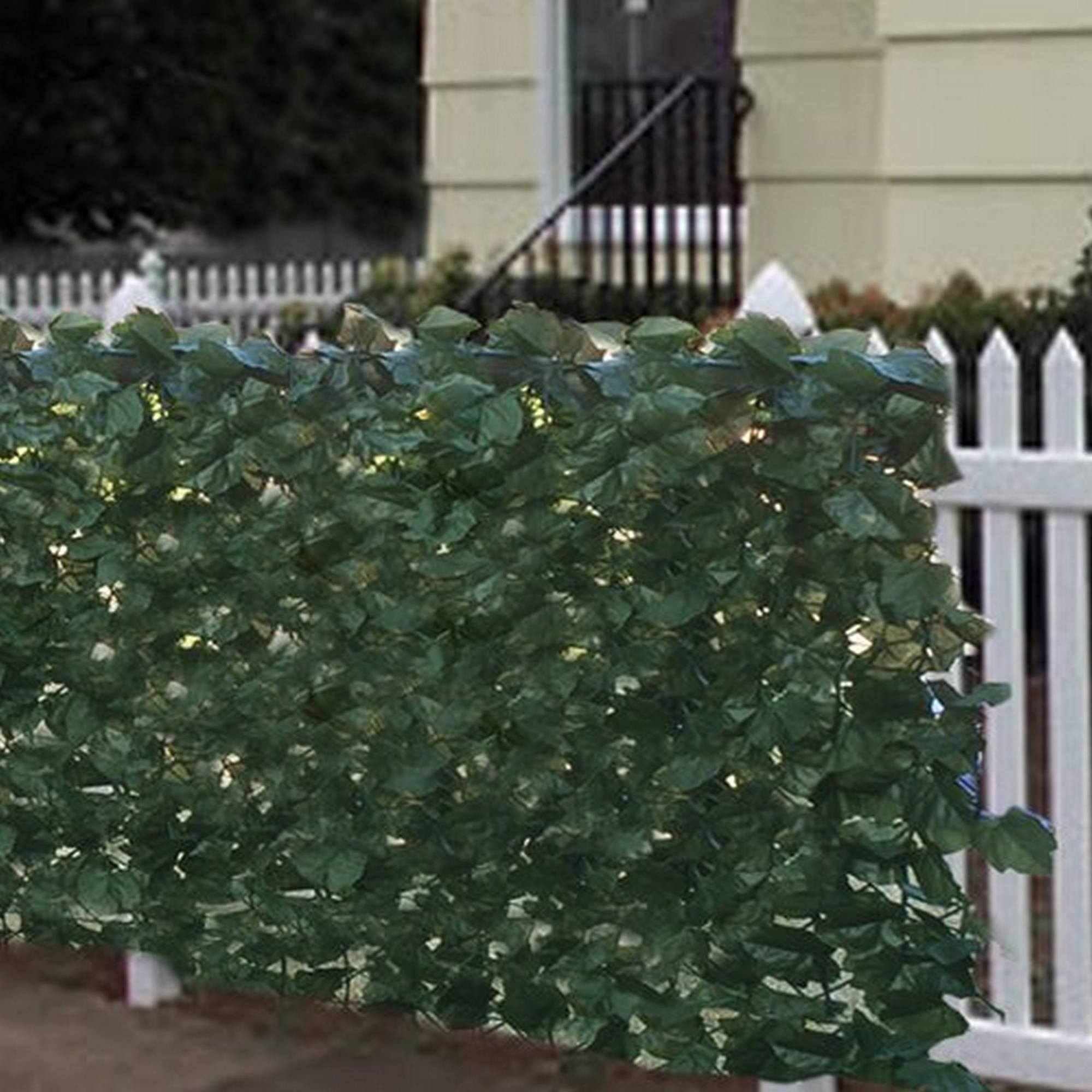 Aleko Privacy Fence Screen - Artificial Hedge - 94 x 39 Inches - Faux Ivy