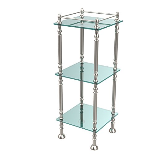 Allld|#Allied Brass ET-14X143TGL-SN Three Tier Etagere with 14 Inch x 14 Inch Shelves, by Allied Brass Mfg.