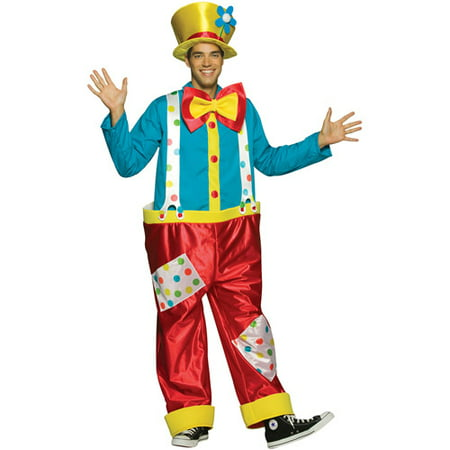 Clown Adult Male Halloween Costume - One Size - Halloween Movie Clown Costume