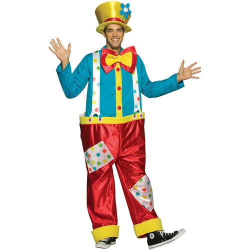Clown Adult Male Halloween Costume - One Size