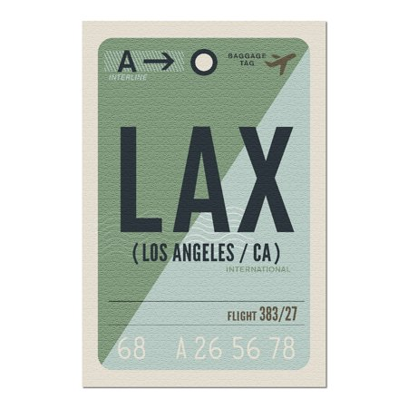 Los Angeles, California - LAX - Luggage Tag - Urban Traveler 101697 (20x30 Premium 1000 Piece Jigsaw Puzzle, Made in USA!)