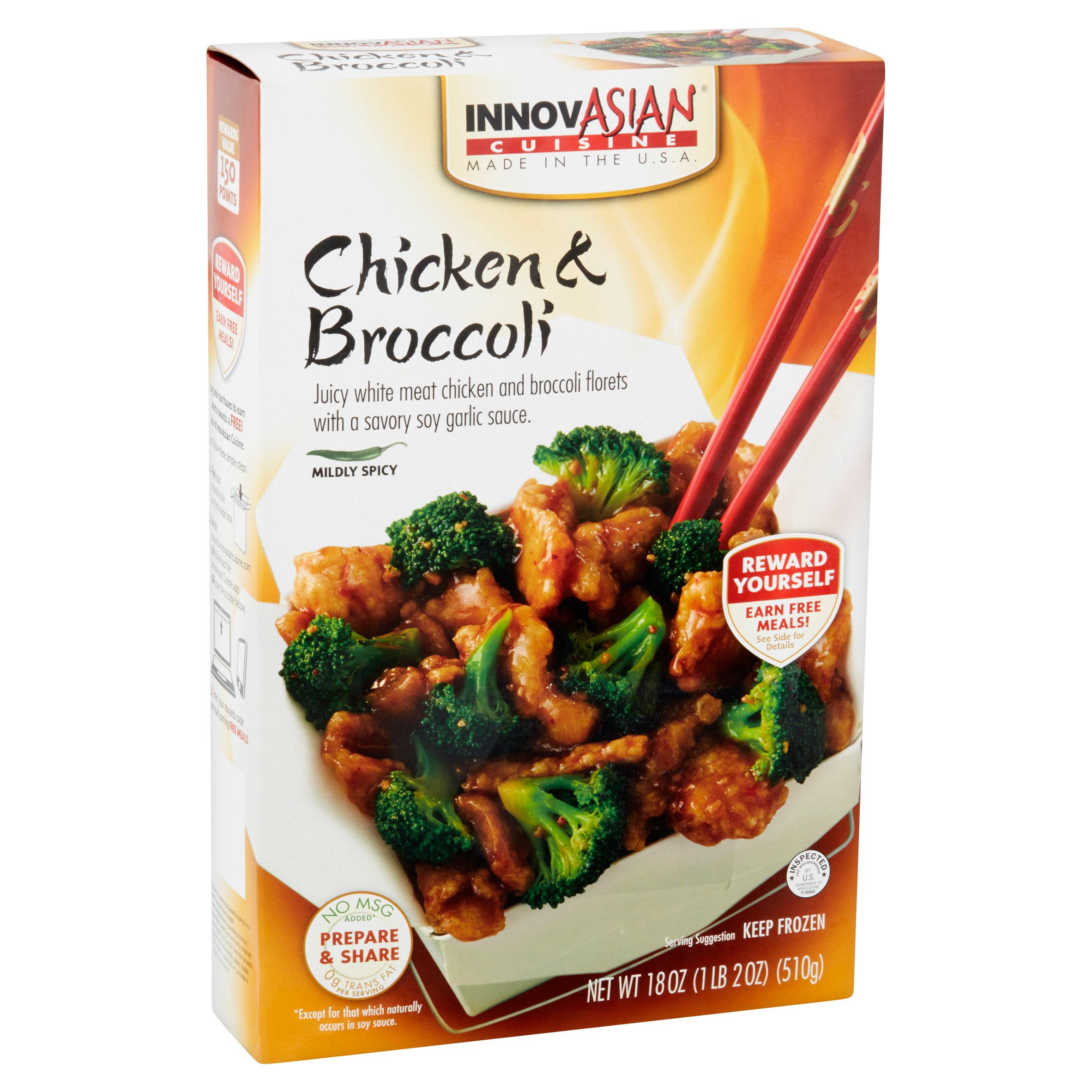 innovasian cuisine chicken & broccoli family style entree kit, 18