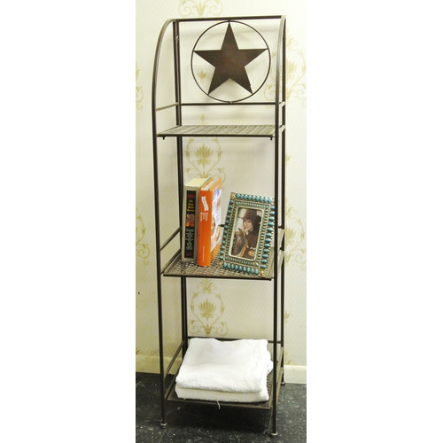 De Leon Collections Star 3 Tier 13.5'' Bathroom Shelf