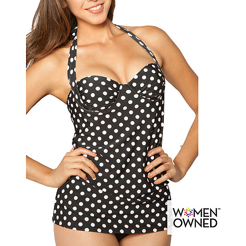 Smart and Sexy Women's Convertible Bandeau Tankini Halter Top