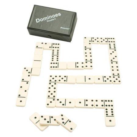 Toy Double Six Urea Tournament Dominoes, 28 jumbo crystalline dominoes, vinyl case and rules By Pressman