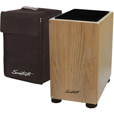 (Sawtooth Ash Wood Cajon with Maple Back and Sides, Includes: Seat Pad and Carry Bag)