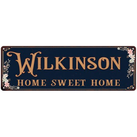 WILKINSON Home Sweet Home Victorian Personalized 6x18 Metal Sign 106180046952 (Personalized Sweets)