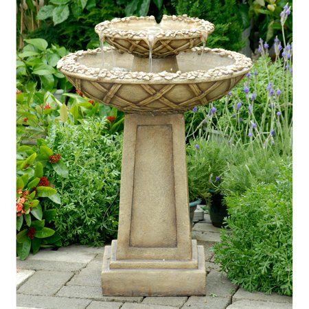Jeco Water Outdoor Bird Bath Fountain
