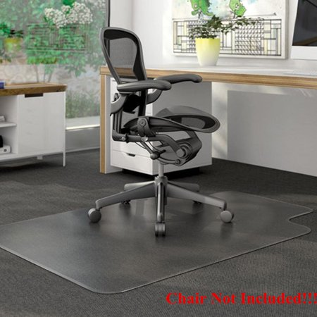 Ktaxon PVC Matte Desk Office Chair Floor Mat Protector for Hard Wood Floors 48