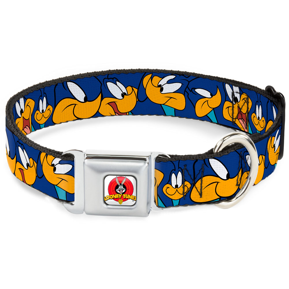 Dog Collar LTA-Looney Tunes Logo White - Road Runner Expressions Royal - Pet Collar