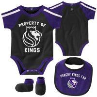 Sacramento Kings Newborn & Infant Rebound Bodysuit, Bib & Booties Set - Purple/Black
