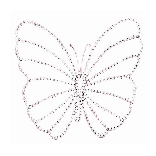 Jubilee Collection Small Wire Beaded Butterfly Wall D cor (Set of 3)