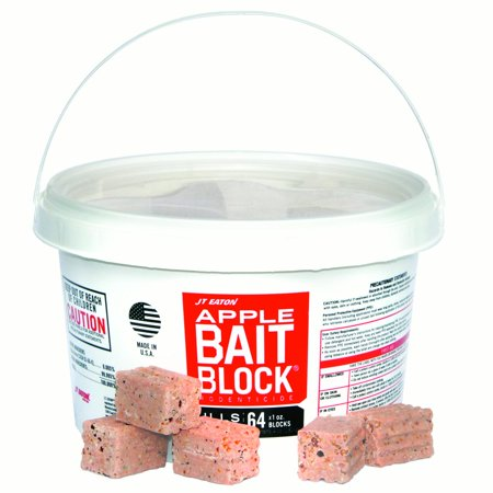 JT Eaton 704-AP Block Rodenticide Anticoagulant Bait for Mice and Rats, Apple Flavor, Pail of