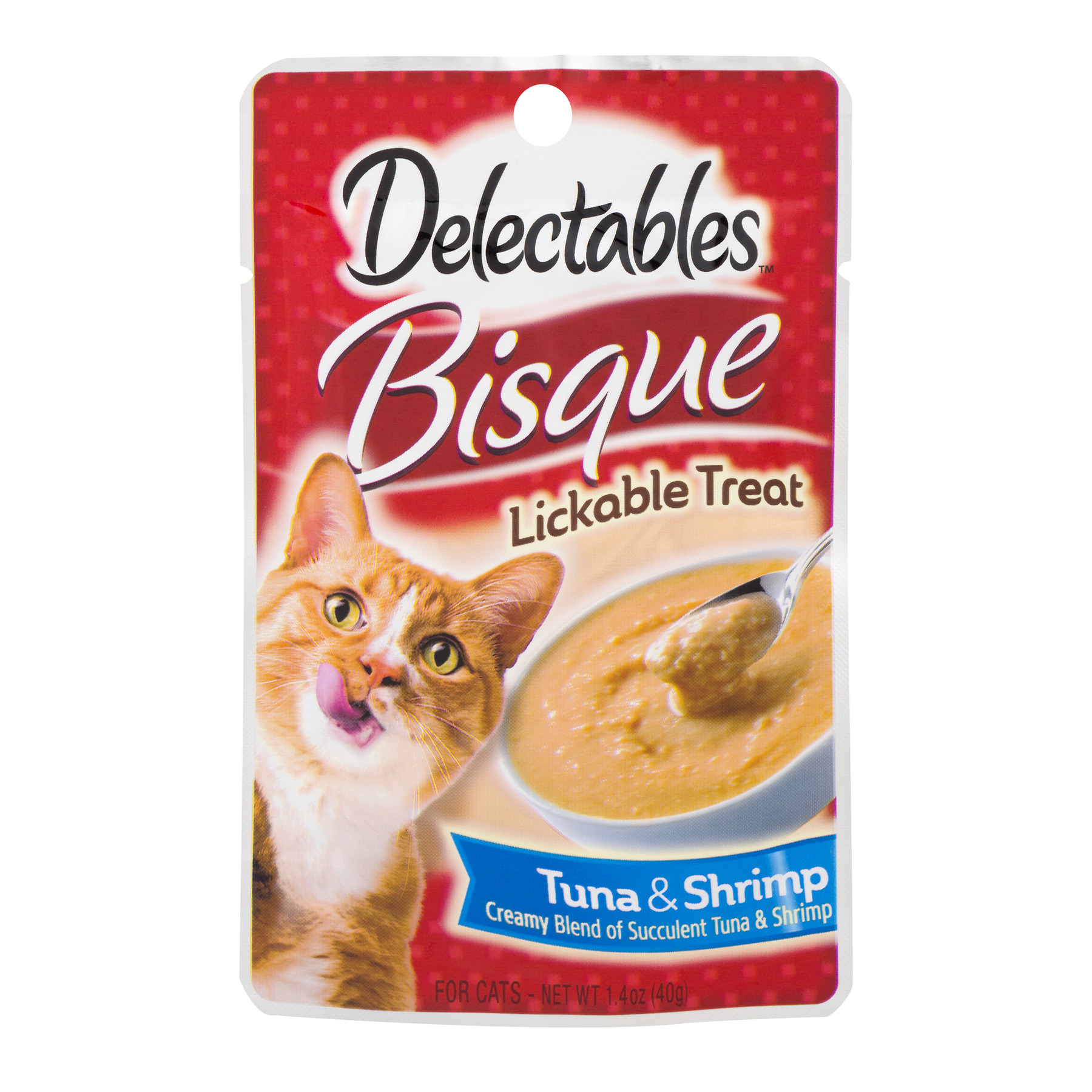Delectables Lickable Cat Treat Bisque Tuna & Shrimp, 1.4 Oz. by The Hartz Mountain Corporation