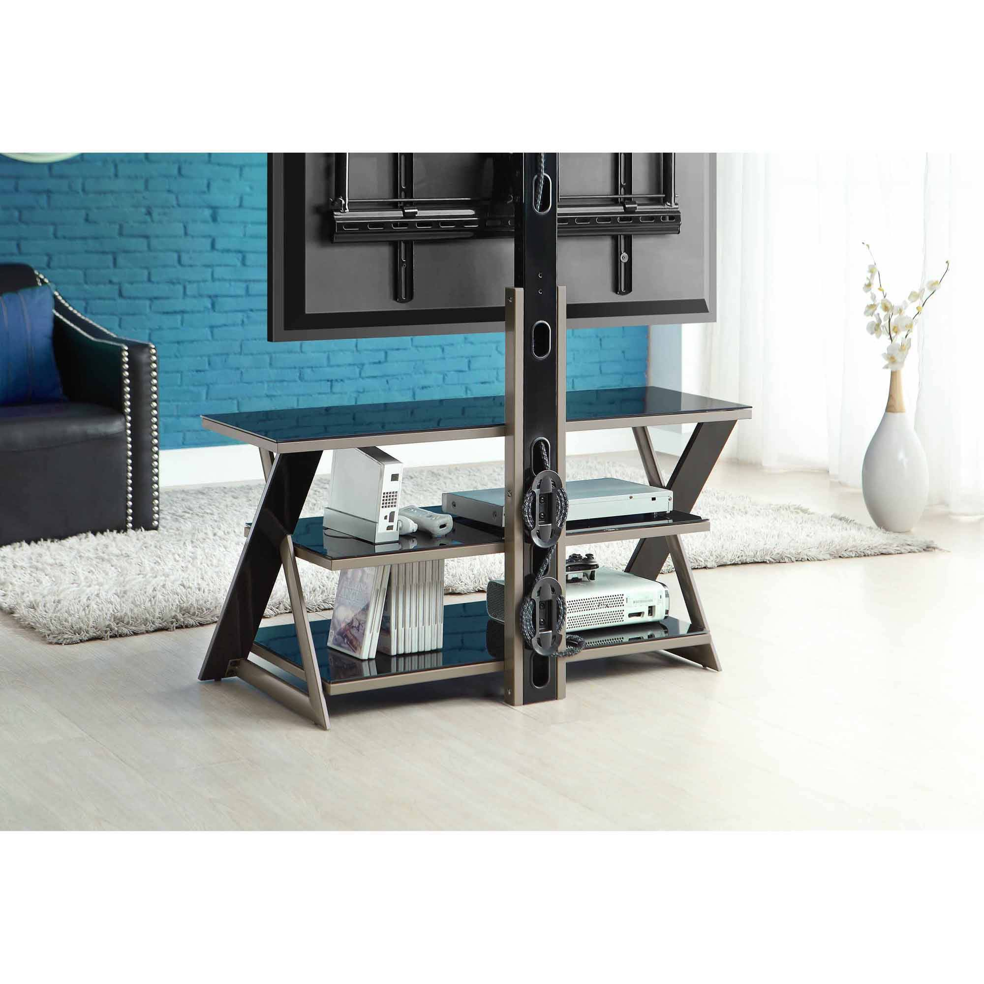 Whalen 3 In 1 Flat Panel Tv Stand For Tvs Up To 50 Walmart Com