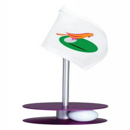 Anne Stone Golf Putt-A-Round Putting Aid Orange Bird Flag Purple Base