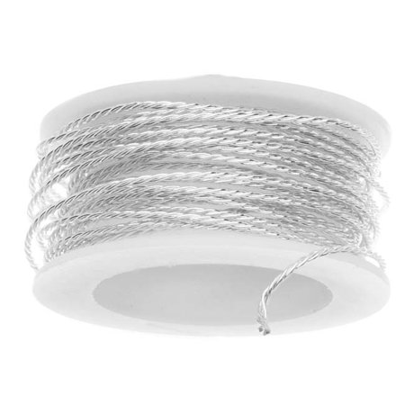 Artistic Wire, Twisted Craft Wire 20 Gauge Thick, 3 Yard Spool, Tarnish Resistant Silver