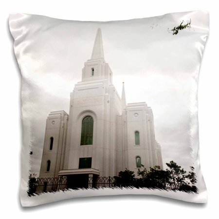 3dRose The Church of Jesus Christ Holy Temple in Brigham City Utah - Pillow Case, 16 by 16-inch