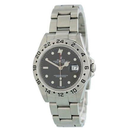 c8e6b6e4864 Rolex - Rolex Explorer Ii 16570 Steel Watch (Certified Authentic    Warranty) - Walmart.com