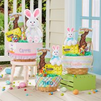 Personalized Create Your Own Easter Basket - Available in 6 Designs, 3 Sizes, and choose With or Without Candy