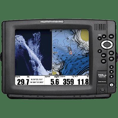 """Humminbird 409220-1 MFD/Sonar, 1159ci HD DI, 10"""", Down-Image"""