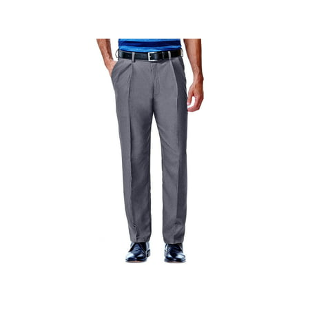 Haggar Men's Cool 18® Heather Solid Pleat Front Pant Classic Fit 41114276486 (Dockers Classic Pleated)