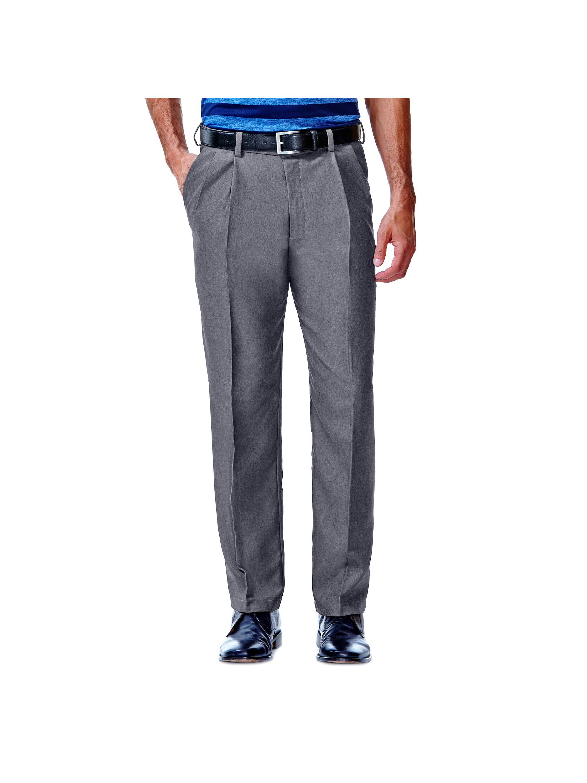 Men's Cool 18® Heather Solid Pleat Front Pant Classic Fit 41114276486