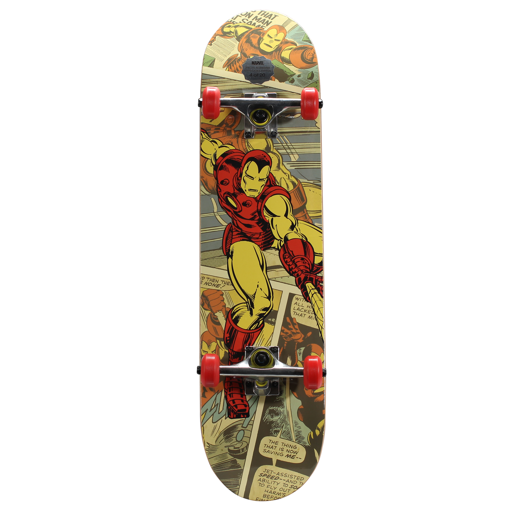 "Marvel Bravo Krypto Kingpin 31"" Iron Man Skateboard"