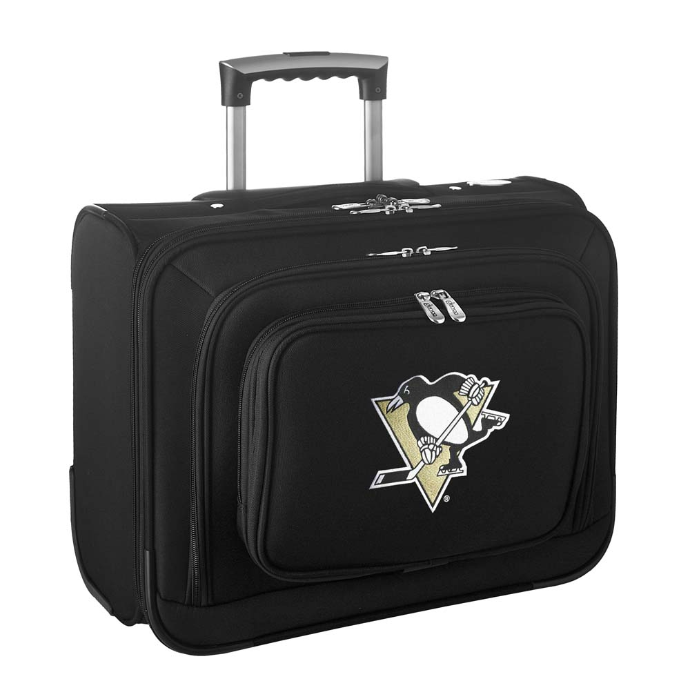 Denco NHL Wheeled Laptop Overnighter, Pittsburgh Penguins by Mojo Licensing