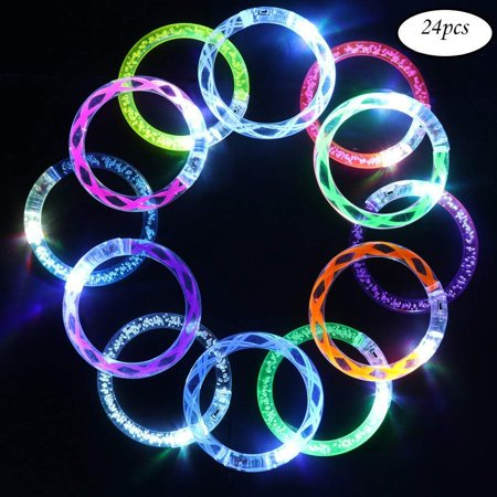 24 Pack Flashing Colorful LED Grow Bracelets For Wedding, Birthdays, Concert, Night Games Fun Events](Concert Band Halloween)