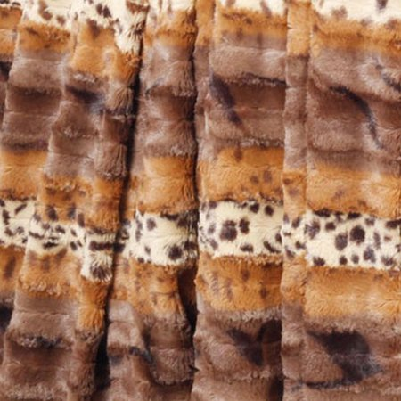 BOON Throw & Blanket Brushed Leopard Double Sided Faux Fur Throw ()