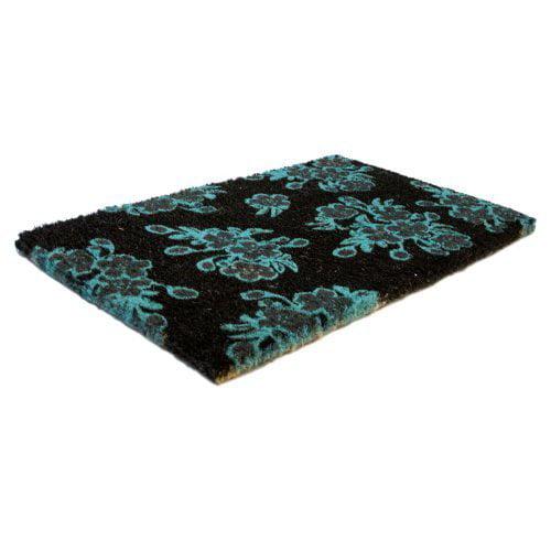 Entryways Floral Handwoven Doormat