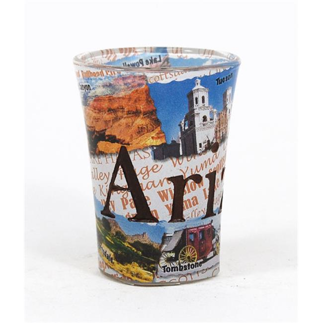Americaware SGARI02 Arizona Full Color Etched Shot Glass by Americaware