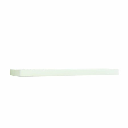 Inplace Shelving 0191828 Wide Floating Wall Mountable Shelf White 23 6 Inch By