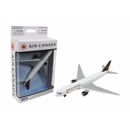 Air Canada Single Plane, White with Silver - Daron RT5884-1 - Diecast Model Toy Car