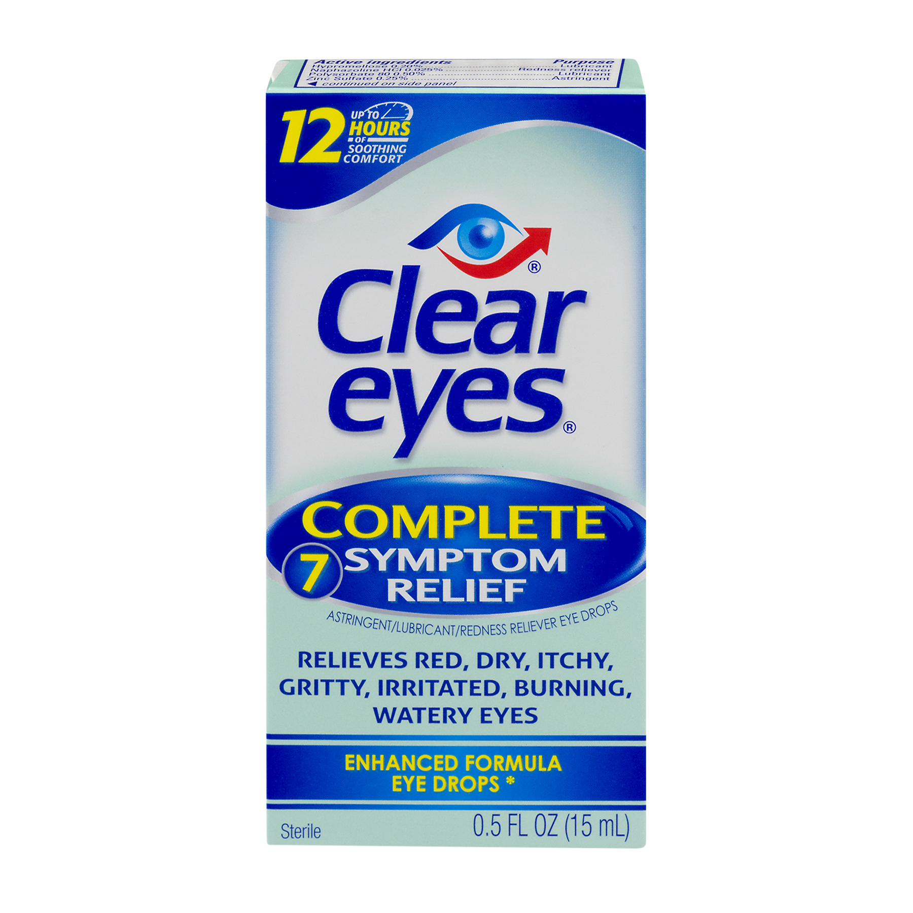 Clear Eyes Complete 7 Symptom Relief Enhanced Formula Eye Drops