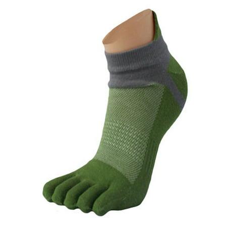 1 Pair Men Mesh Meias Sports Running Five Finger Toe Socks