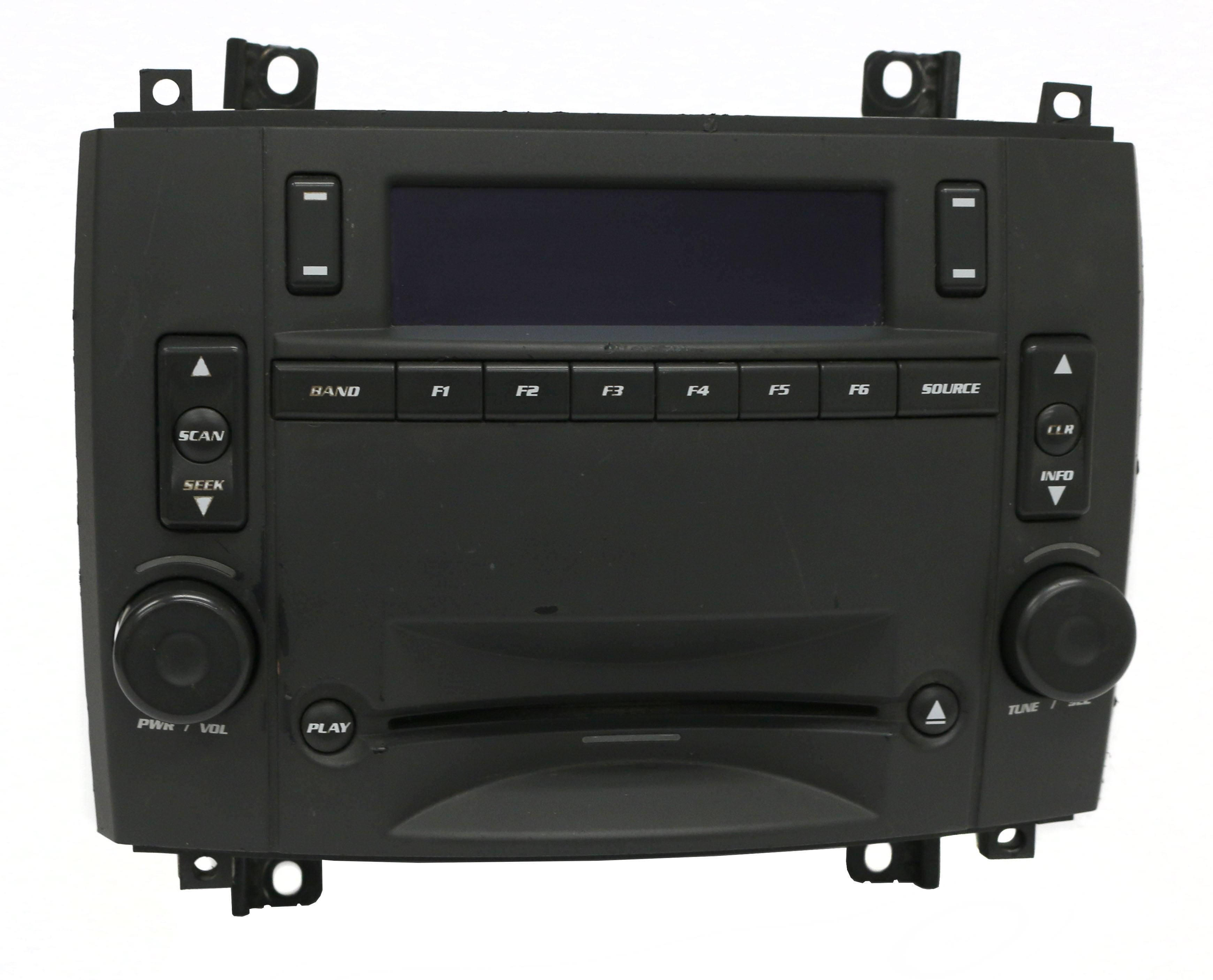 2005-07 Cadillac CTS Radio AM FM CD Cassette Player PN 25753338 Option Code U2R Refurbished by Cadillac