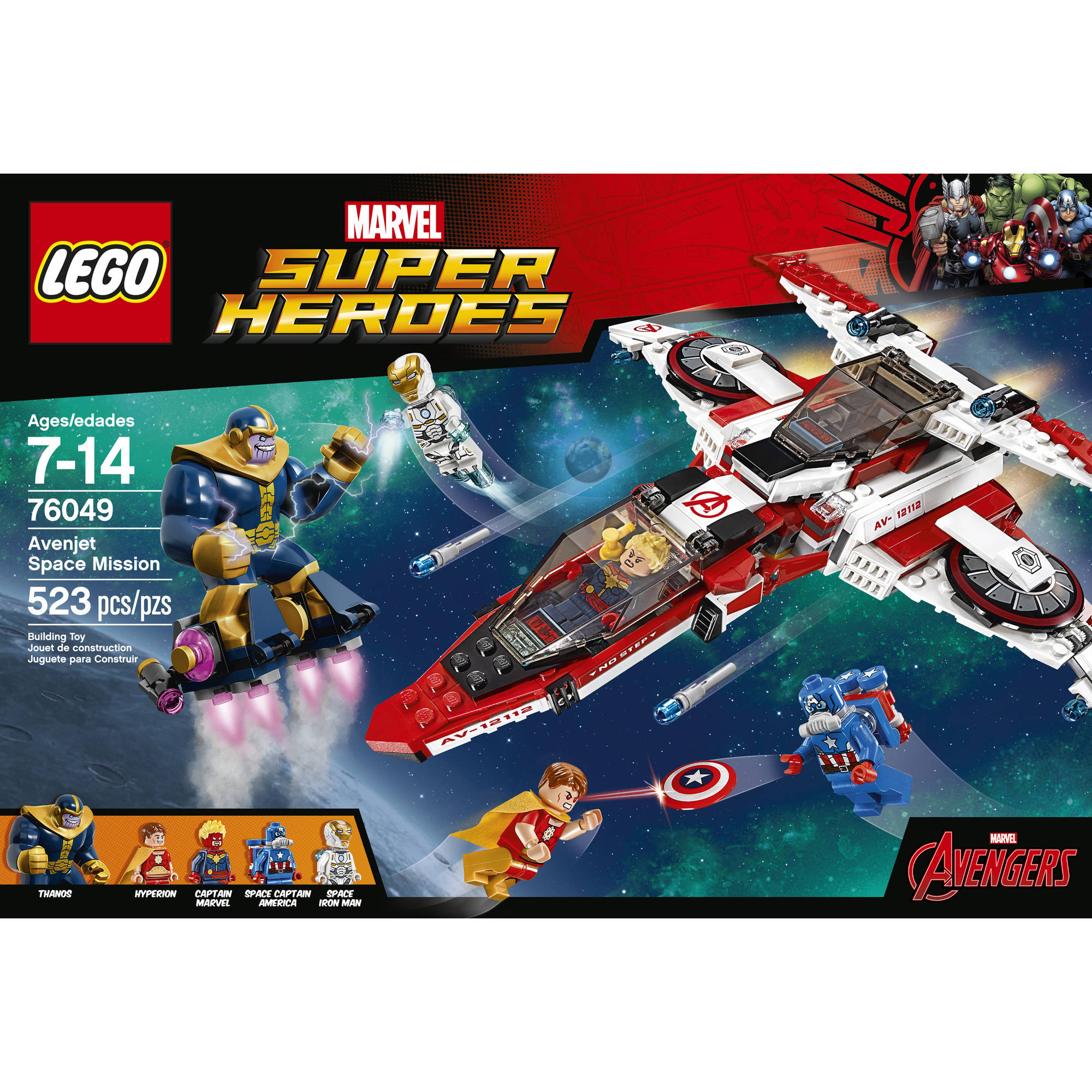 Space Super Heroes Mission76049 Avenjet Lego xQrdtshC