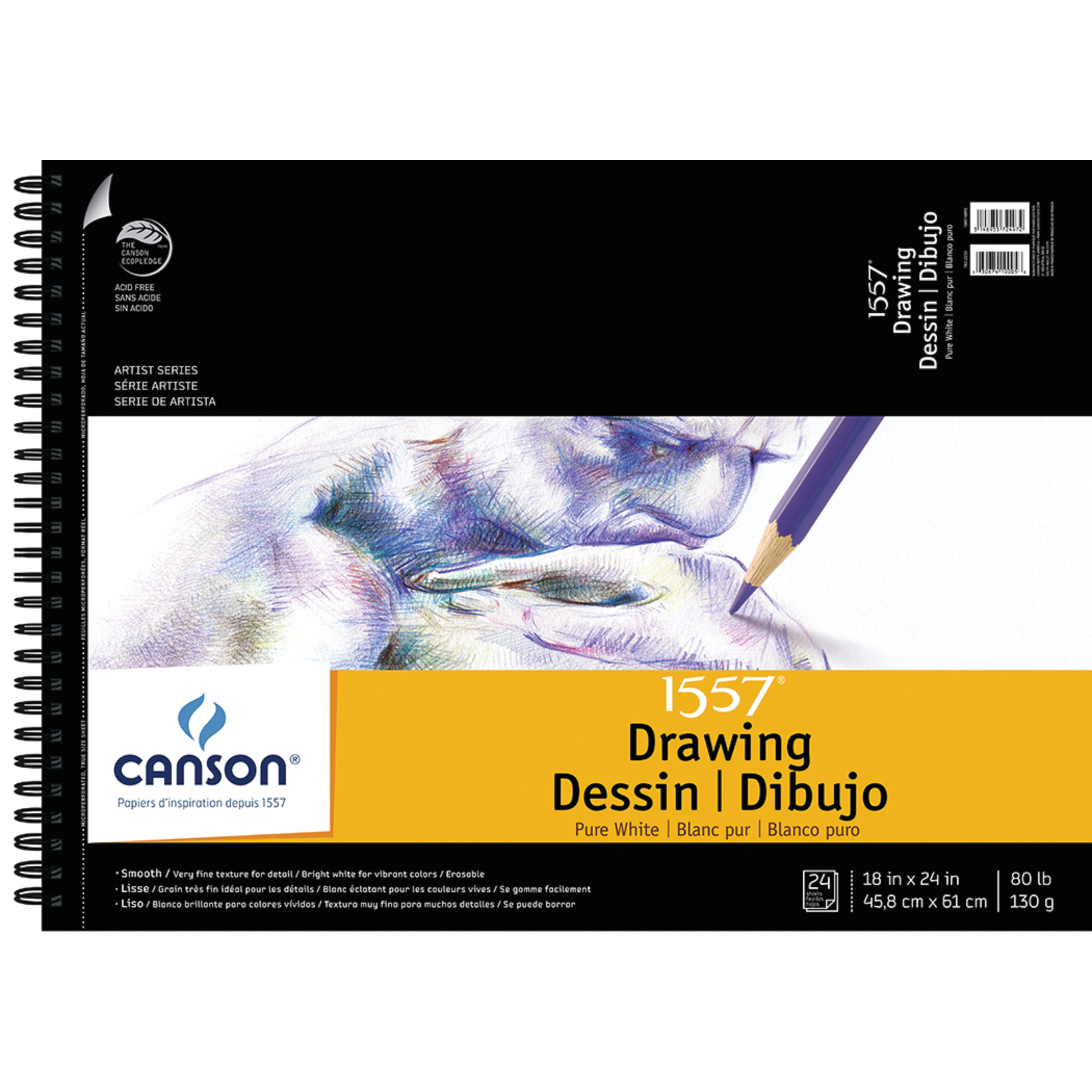 Canson Artist Series C A Grain Drawing Pad, 18in x 24in, 20 Sheets/Pad