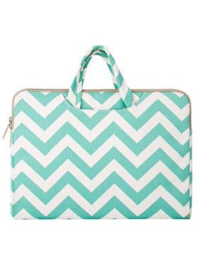 Chevron Style Canvas Fabric Laptop Briefcase Handbag Carrying Case Cover for 13-13.3 Inch MacBook Pro, MacBook Air, Notebook Computer, Hot Blue