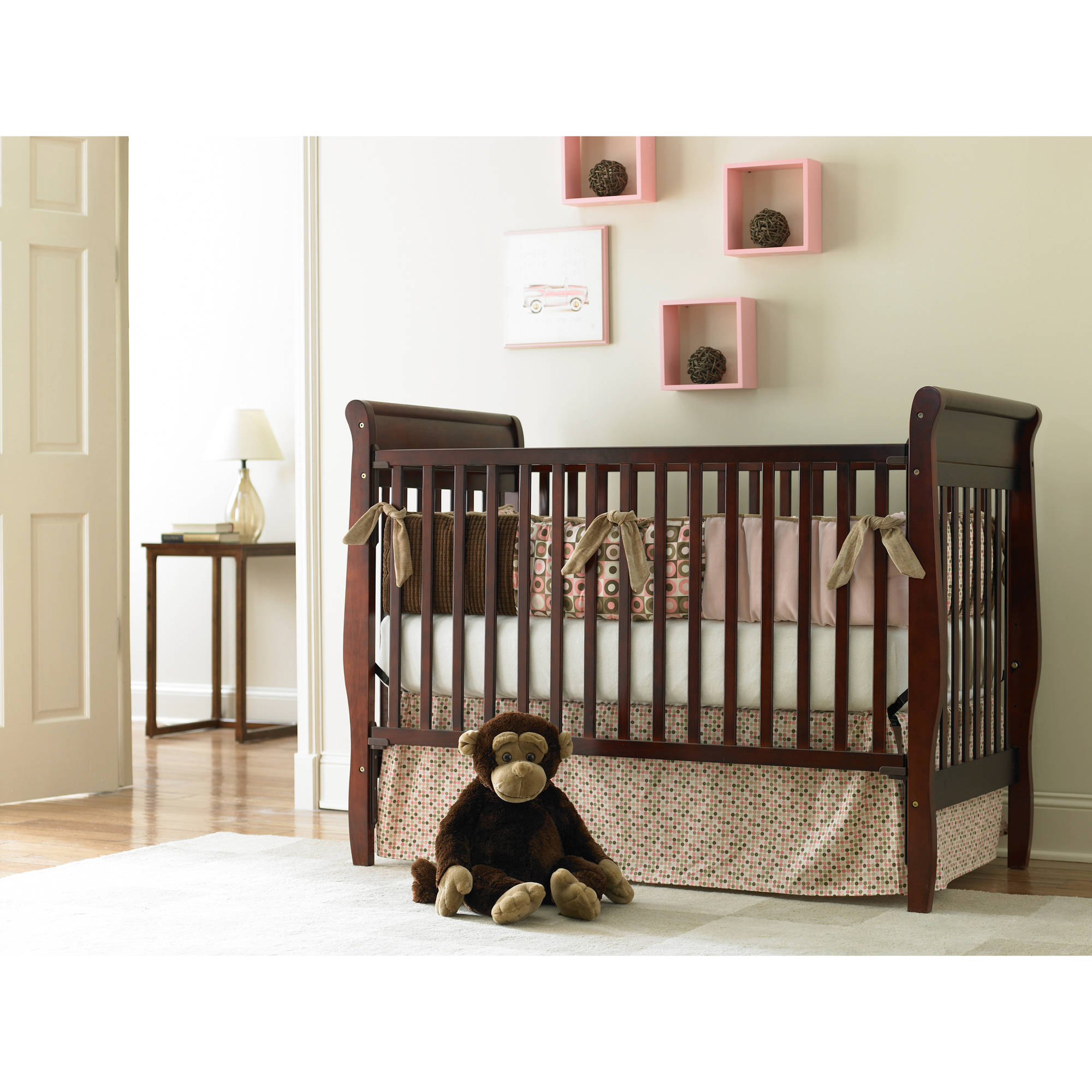 baby dark cribs bassettbaby for wood convertible cherry in chocolate less crib hayden pin