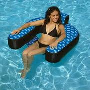 Swimline Nylon Covered Chair Pool Float, Blue