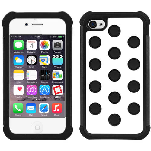 walmart iphone 4s cellet armor for apple iphone 4 4s white black 13270