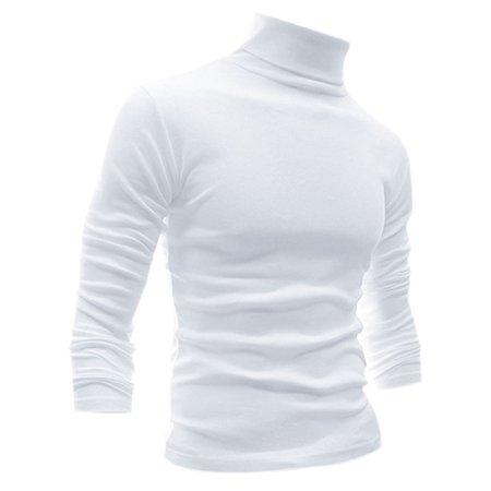 Unique Bargains Men's Turtle Neck Full Sleeves Stretchy Slim Fit Shirt ()