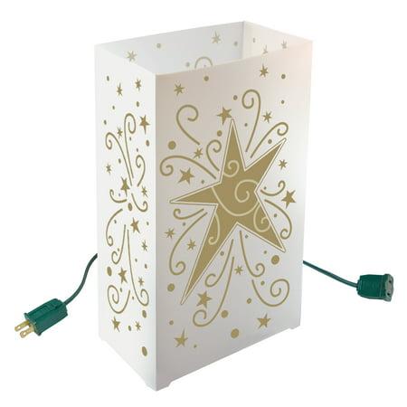 LumaBase Electric Luminaria Kit, 10 Count Star ()