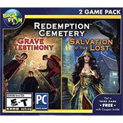 BIG FISH GAMES Redemption Cemetery GRAVE TESTIMONY + SALVATION OF THE LOST Hidden Object PC Game